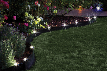 Fiberedge Fibergl Solar Led Lights Garden Bed